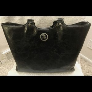 Faux leather Black Work Bag.